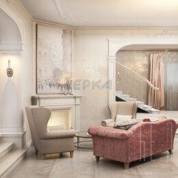 Лепнина в частном доме из гипса