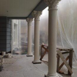 Гипсовые колонны установка фото
