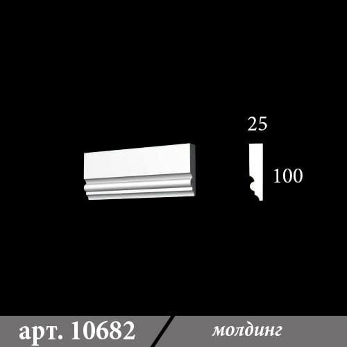 Гипсовый молдинг 25х100х1000