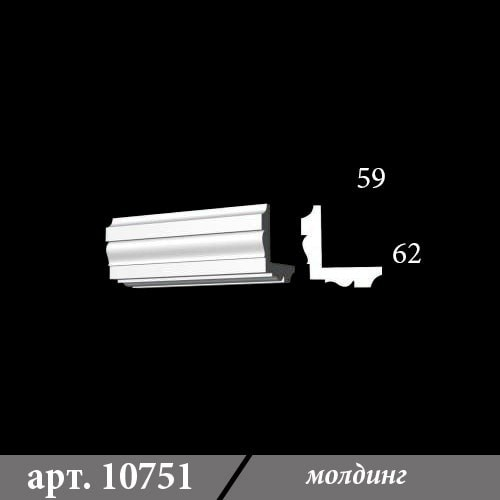 Гипсовый молдинг 59х62х1000