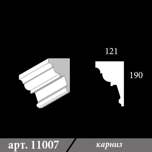Карниз из пенопласта 121х190х1000