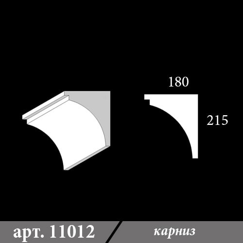 Карниз из пенопласта 180х215х1000