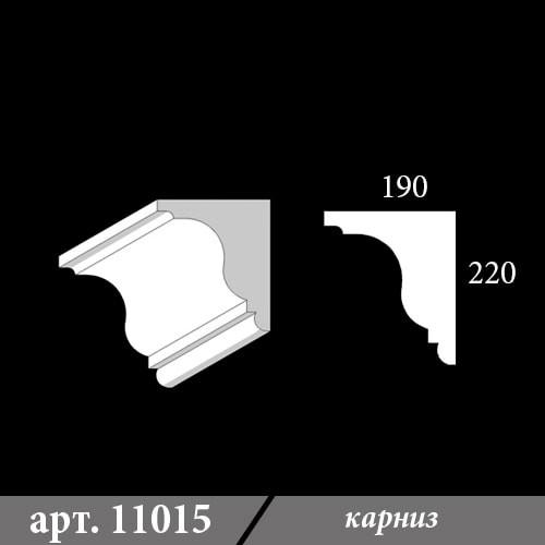 Карниз из пенопласта 190х220х1000