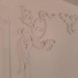 Разметка стены для установки декора