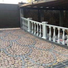 Серые столбы для балюстрады Киев под заказ