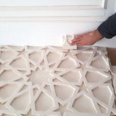 Установка гипсовых 3D панелей