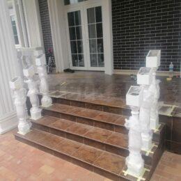 Ballysinu dlya balkonov terras s ustanovkou pod kluz002