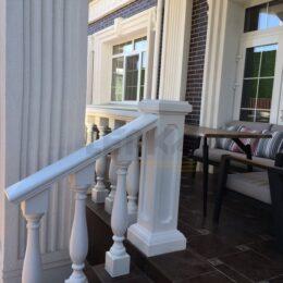 Ballysinu dlya balkonov terras s ustanovkou pod kluz012