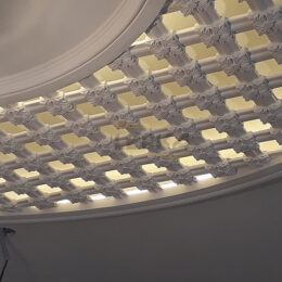 Розетка с подсветкой на потолке