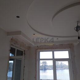 Потолок до установки гипсовой розетки с подсветкой Киев