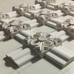 Заготовка модели для розетки из гипса