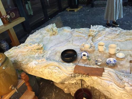 Стол чайных церемоний|Стол чайных церемоний мрамор травертин