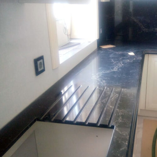 Столешница Кухонная Кварцит Vanilla Noir