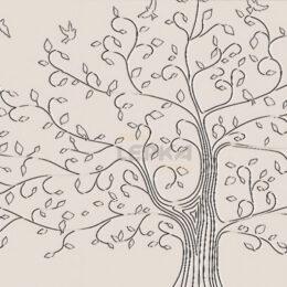 Панно Дерево На Стене Чертеж Фото