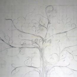Панно Дерево На Стене Чертеж Разметка Фото