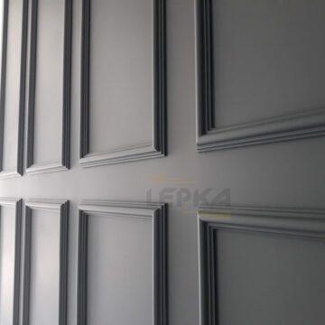 Покраска гипсовых тяг на стене фото
