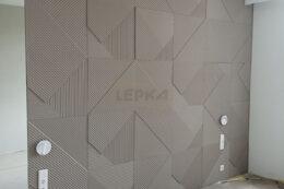 Гипсовые панели на стене фото