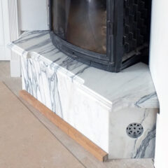 Облицовка камина Bianco Stattuario