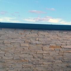Облицовка стены карпатским песчаником