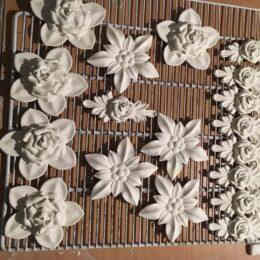 Гипсовые Цветочки Для Розетки