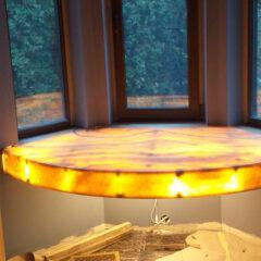 Подоконник стол с подсветкой Оникс Ханей