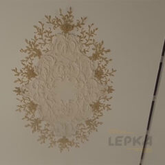 Овальная потолочная розетка из гипса и полиуретана